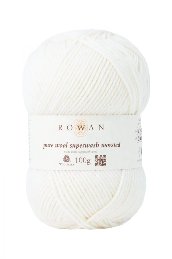 Rowan Pure Wool Superwash worsted Farbe 101 Ivory
