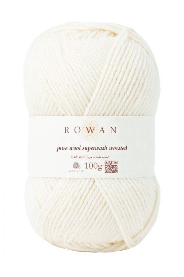 Rowan Pure Wool Superwash Worsted Farbe 102 soft cream