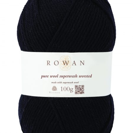 Rowan Pure Wool Superwash Worsted Farbe 109 black