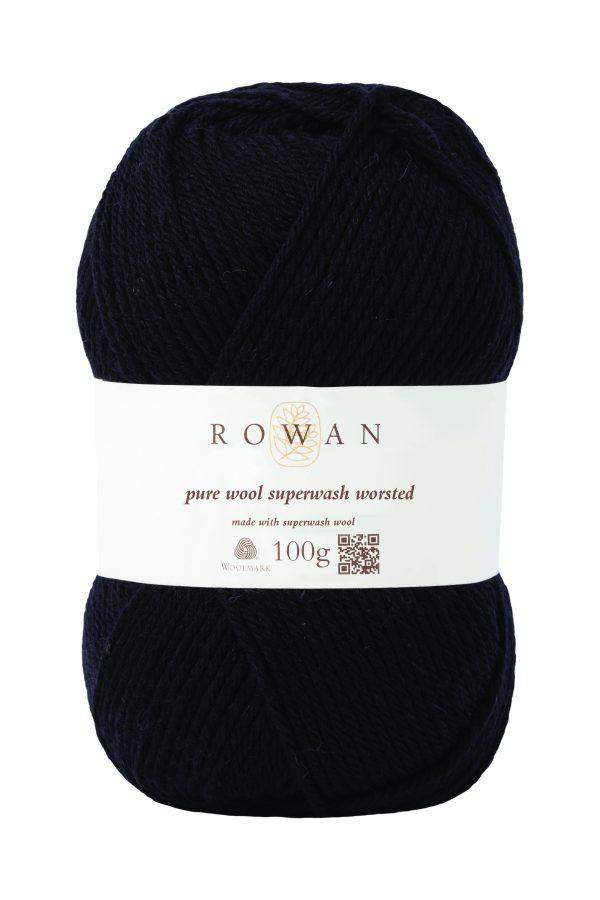 Rowan Pure Wool Superwash Worsted Farbe 109 black