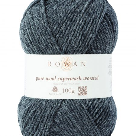 Rowan Pure Wool Superwash Worsted Farbe 111 granite