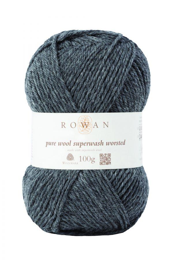 Rowan Pure Wool Superwash Worsted Farbe 111 granite