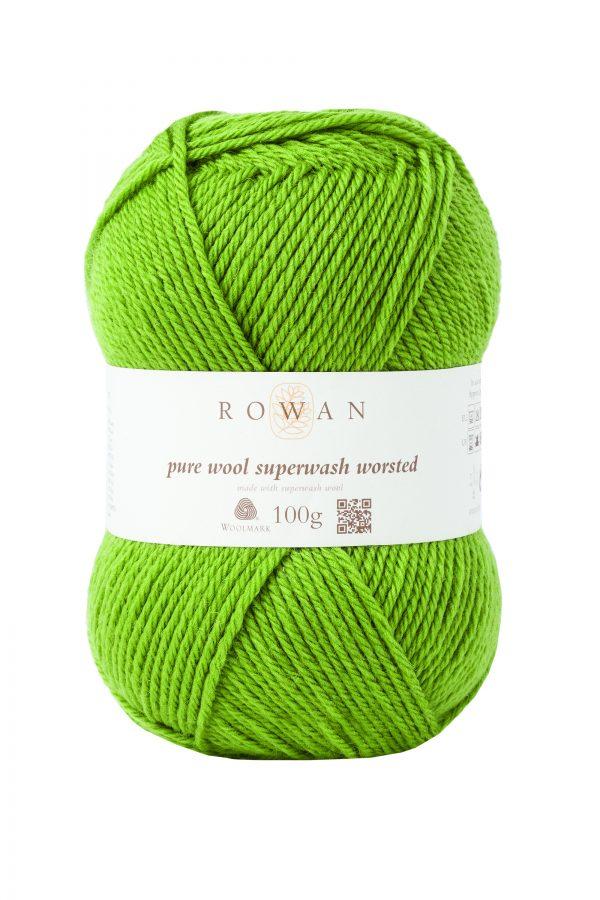 Rowan Pure Wool Superwash Worsted Farbe 125 olive