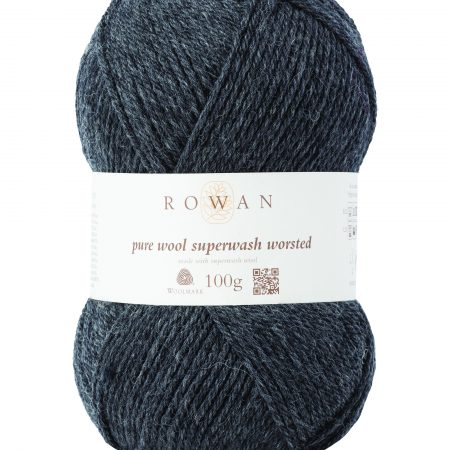 Rowan Pure Wool Superwash Worsted Farbe 155 charcoal grey