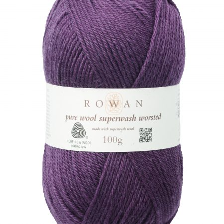 Rowan Pure Wool Superwash Worsted Farbe 190 raisin