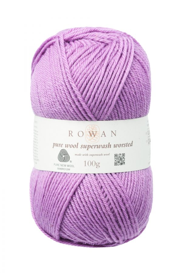 Rowan Pure Wool Superwash Worsted Farbe 191 mauve mist