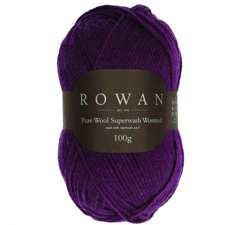 Rowan Pure Wool Superwash Worsted Farbe 198 eggplant