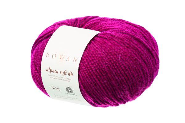 Rowan Alpaca Soft DK Farbe 206 Deep Rose