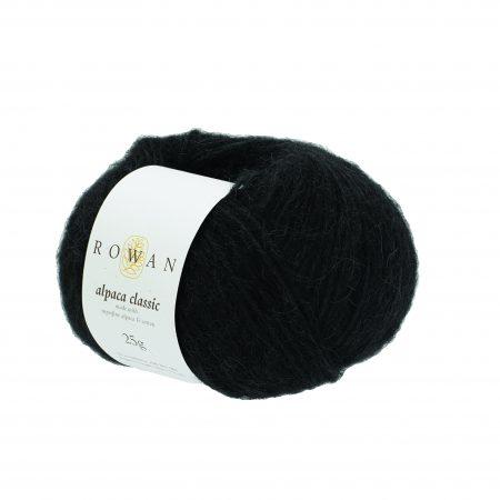 Rowan Alpaca Classic Farbe 103 Noir